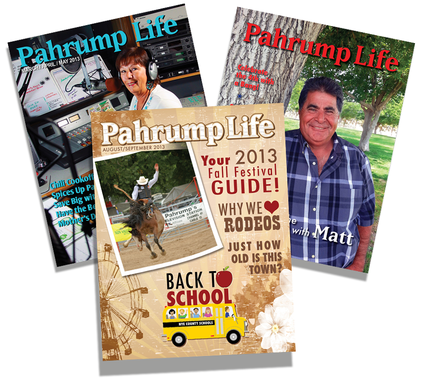Brian K Media Magazine Design, Pahrump Life Magazine