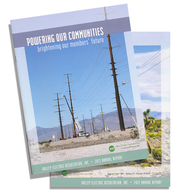 Brian K Media Magazine Design, Valley Electric Association Annual Report 2013.